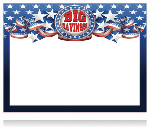 Big Savings Shelf Sign Laser Compatible Cards-11 x 7