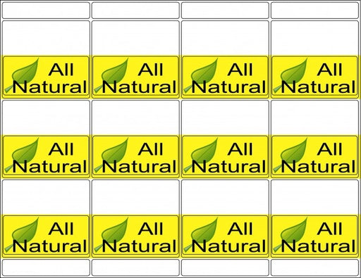 All Natural Labels for Supermarkets
