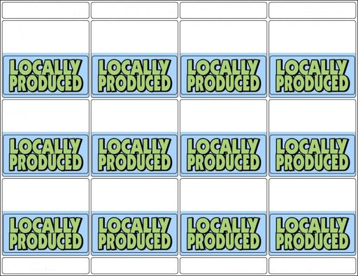 Locally Grown Bib Tags for Supermarkets-600 Bib labels