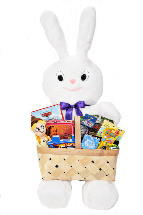Easter Bunny with Toy Filled Basket -Giant Sweepstakes Promotional Item - screengemsinc