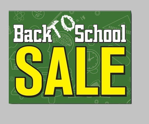 Back to School Sale Gondola End Cap Hanging Sign Ceiling Danglers