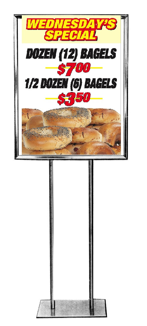 Bagel Specials Floor Stand Stanchion Sign
