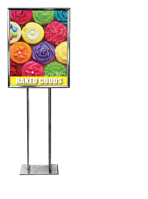 "Baked Goods Floor Stand Stanchion Sign-22"" x 28"""