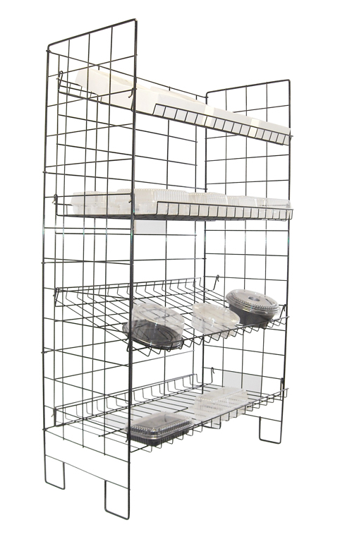 Bakers Wire Display Rack with Adjustable Shelves
