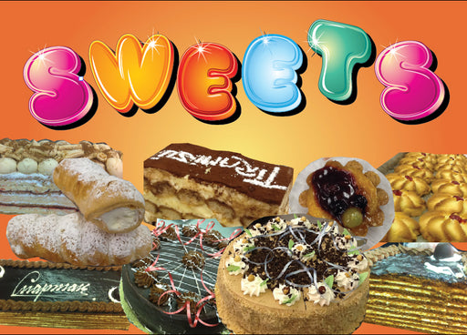 Bakery Sweets magnetic signs- bakery case signage