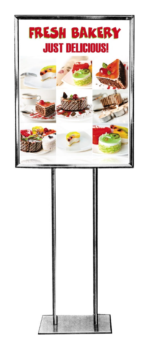 "Bakery Floor Stand Stanchion Sign-22"" x 28"""