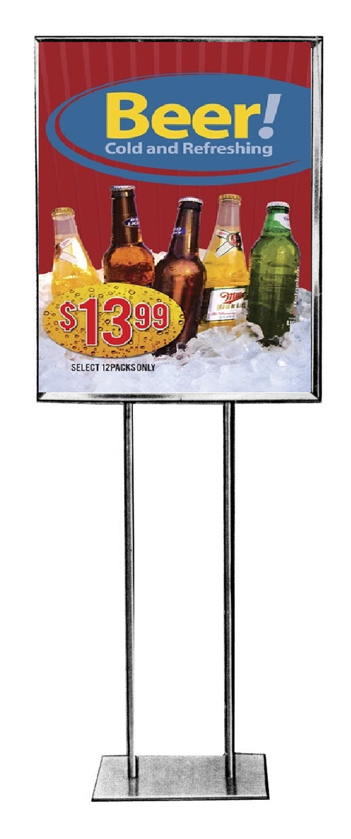 "Beer Floor Stand Stanchion Signs-22"" W x 28"" H"