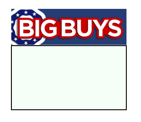 Big Buys Shelf Signs Price Cards