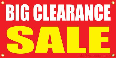 Big Clearance Sale Banner