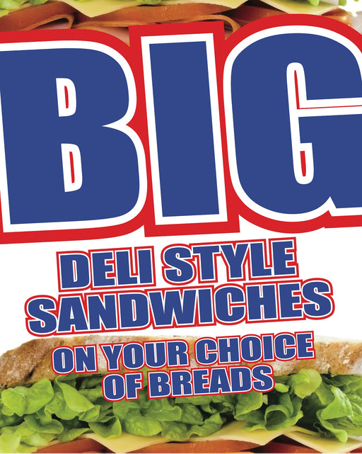 Big Deli Sandwiches Bag Stuffers-Handouts Flyers-500 pieces