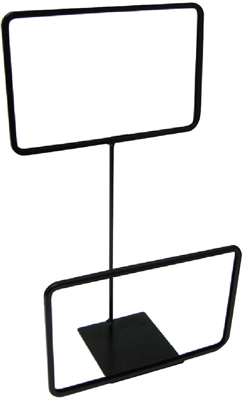"Black Double Sign Frames-Metal-11"" W x 7""H"