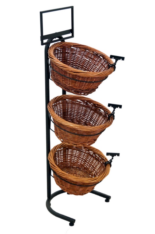 Bakery Display 3 Tier Rack & Baskets