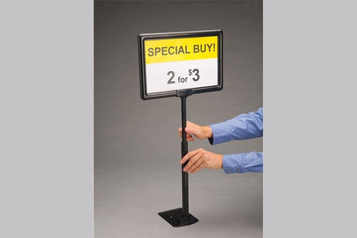 Black Plastic Sign Frame-Telescopic
