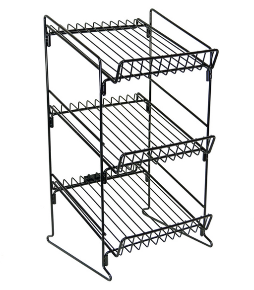Black Wire 3 Shelf Counter Display Rack