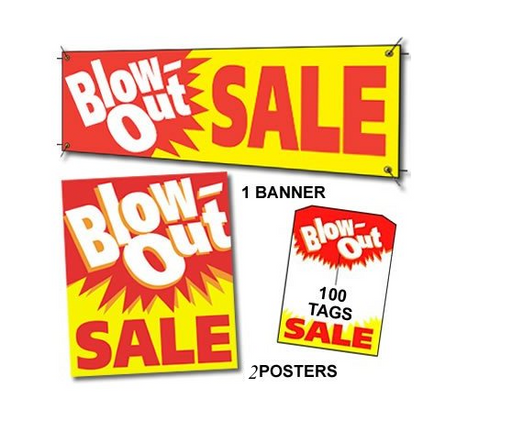 Blowout Sale Sign Kit for Retail