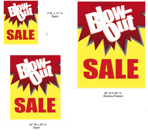 Blowout Sale Retail Sale Event Sign Kit