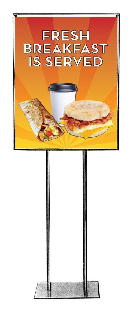 Breakfast Floor Stand-Stanchion Sign