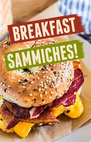 Breakfast Sammiches Window Sign Poster