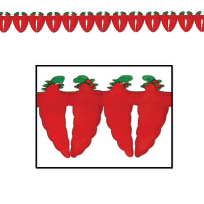Chili Peppers Display Garland-12 pieces