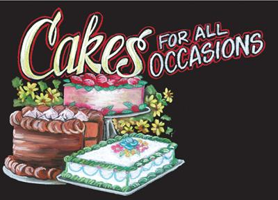 Cakes Bakery Sign-Chalkboard Design
