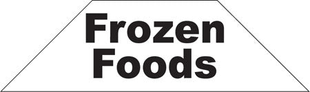 Cooler Door Decals-Clings- Frozen Foods