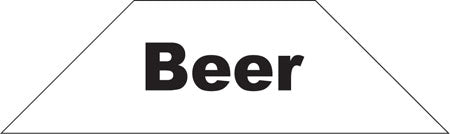 Cooler Door Decals-Clings- Beer-Black