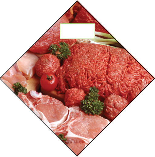 meat Ceiling dangler hanging signs