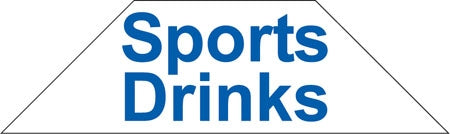 Cooler Door Decals-Clings- Sports Drinks