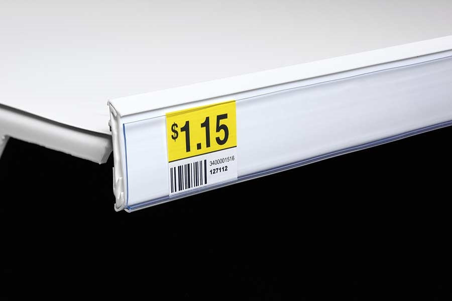 Price Channel Strips for Cooler-Freezer Shelves -10 pieces