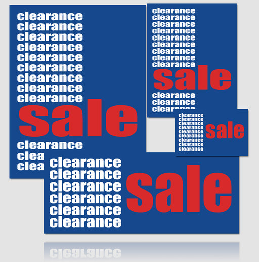 Clearance Sale Sign Kit- 20 pieces