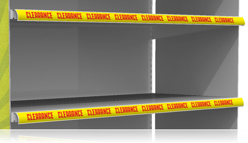 "Clearance Price Channel Shelf Molding Strips- Yellow 24""W x 1.25""H -10 pieces"