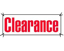 Clearance Banner-16'W x 4'H