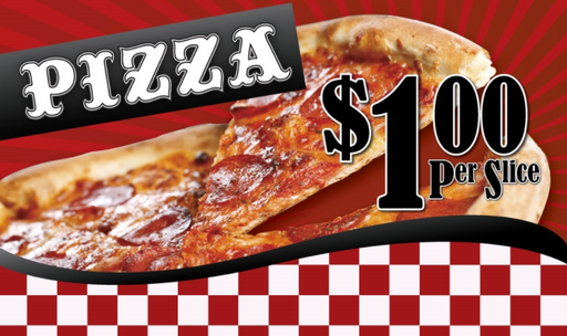 Ceiling Dangler Mobile Sign-Pizza with Custom Price