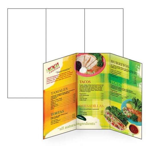 Tri Fold Brochures on Waterproof Paper-Custom Printed