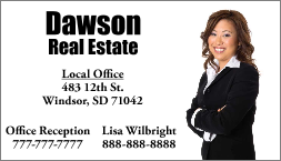 Real Estate Magnetic Signs & Business Cards-Custom Printed