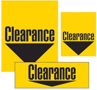 Clearance Sign Kit-Yellow 32 pieces