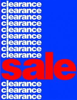 Clearance Standard Poster- Floor Stand Stanchion Sign