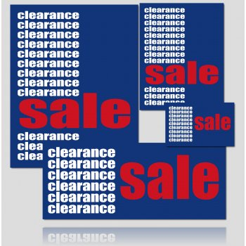 Clearance Sale Sign Kit