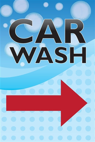 Car Wash Arrow Sidewalk A Frame Sign Insert