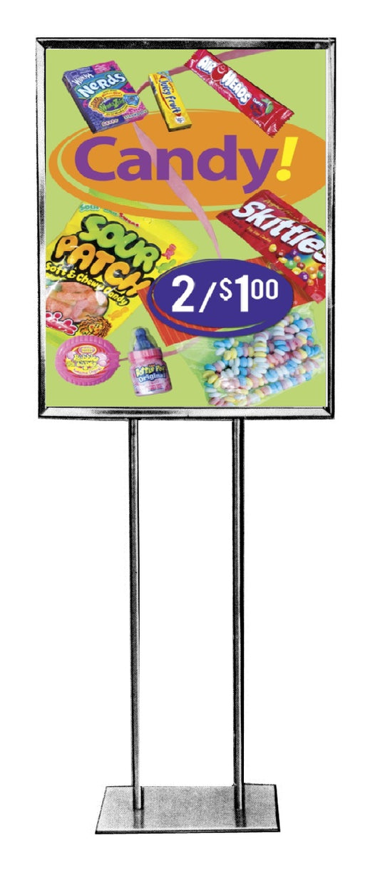 "Candy Floor Stand Stanchion Signs-Price-22"" W x 28"" H"