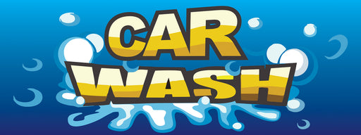 Car Wash Banner-Blue