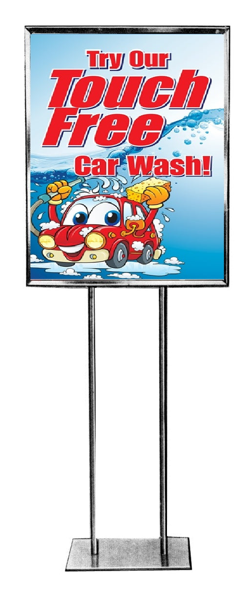Car Wash Floor Stand Sign Standard Poster-Touch Free