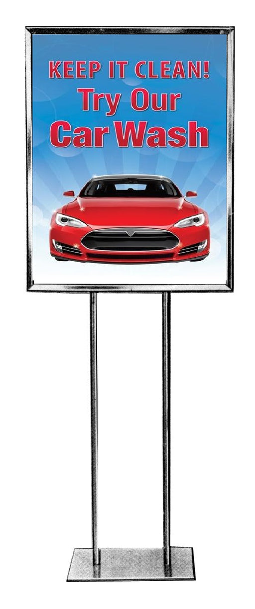 Car Wash Floor Stand Sign Standard Poster