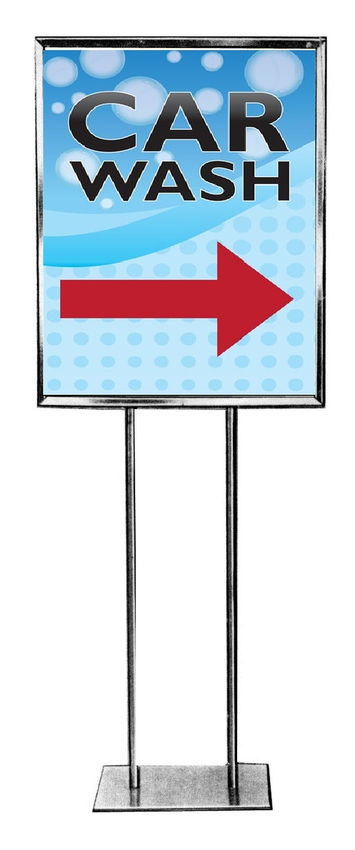 Car Wash Floor Stand Sign Standard Poster-Arrow