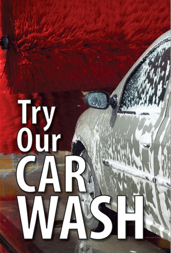 Car Wash Window Sign Poster