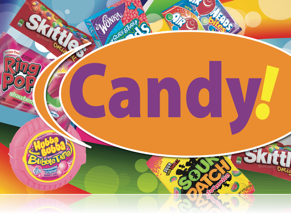Ceiling Dangler Mobile Sign-Candy
