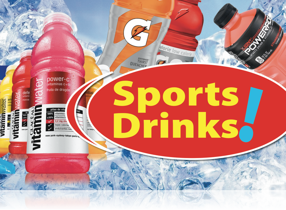 Ceiling Dangler Mobile Sign-Sports Drinks