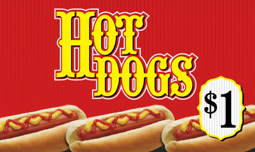 Ceiling Dangler Sign-Hot Dog