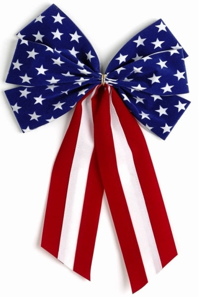Ceremonial Bows-Red/White/Blue Stars-6 Loops