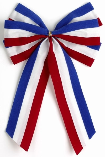 Ceremonial Bows-Red/White/Blue-6 Loops